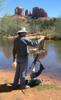Michael Chesley Johnson, Painting Sedona