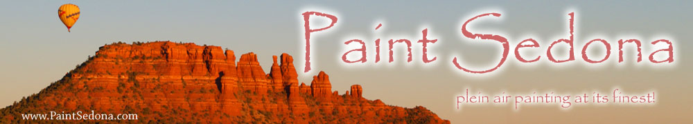 plein air painting landscape workshops in Sedona Arizona